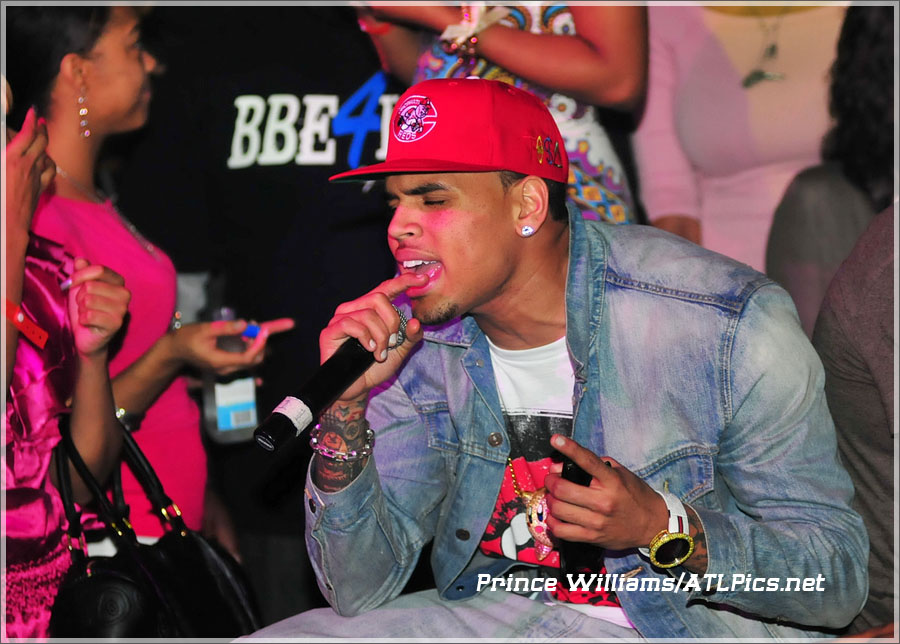 Chris Brown The Velvet Room Atlanta Sandra Rose