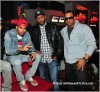 chris brown, left, Alex Gidewon (AG Entertainment Group), center, and Bestroh (Hot 107.9)
