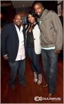 L-R: Ludacris' publicist Jamal Coleman; event planner Nicole Garner, and Taiye Samuel