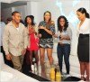 Ludacris, Keshia Knight Pulliam, 2nd from right, and Fab at Compound nightclub