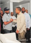 Ludacris greets Alex Gidewon at Compound nightclub
