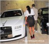 Ludacris and Fab get into his Rolls Royce Ghost at Compound nightclub