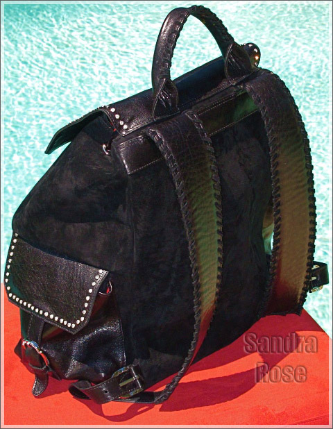 Louis Stewart Collection Rockstar backpack with Swarovski Crystals