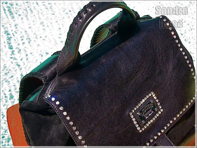 Louis Stewart Collection Rockstar backpack with Swarovski Crystal trimmed plate