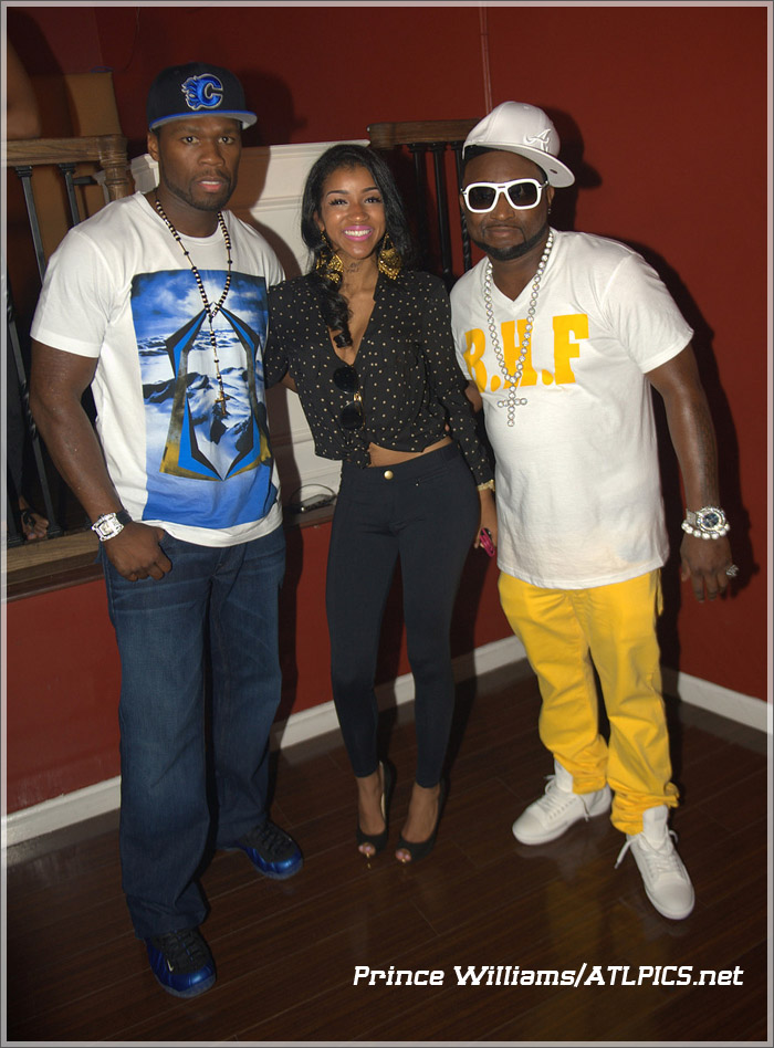 50 cent shawty lo jai jai on set of video sandra rose