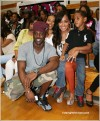 L-R: Lance Gross, Dice, and La La holding son Kiyan
