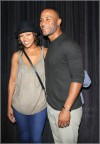 Meagan Good, DeVon Franklin  attend the premiere