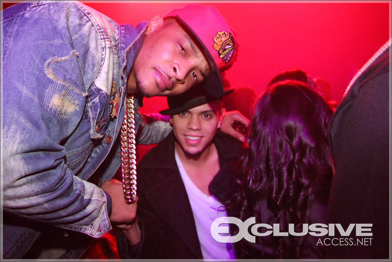 T.I. and Evan Ross at Liv