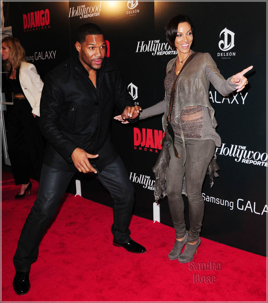 Nicole Murphy and Michael Strahan