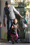Gabriel Aubry and daughter Nahla