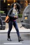 Kelly Rowland Leaving Manhattan Hotel