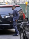 Usher arrives at his hotel