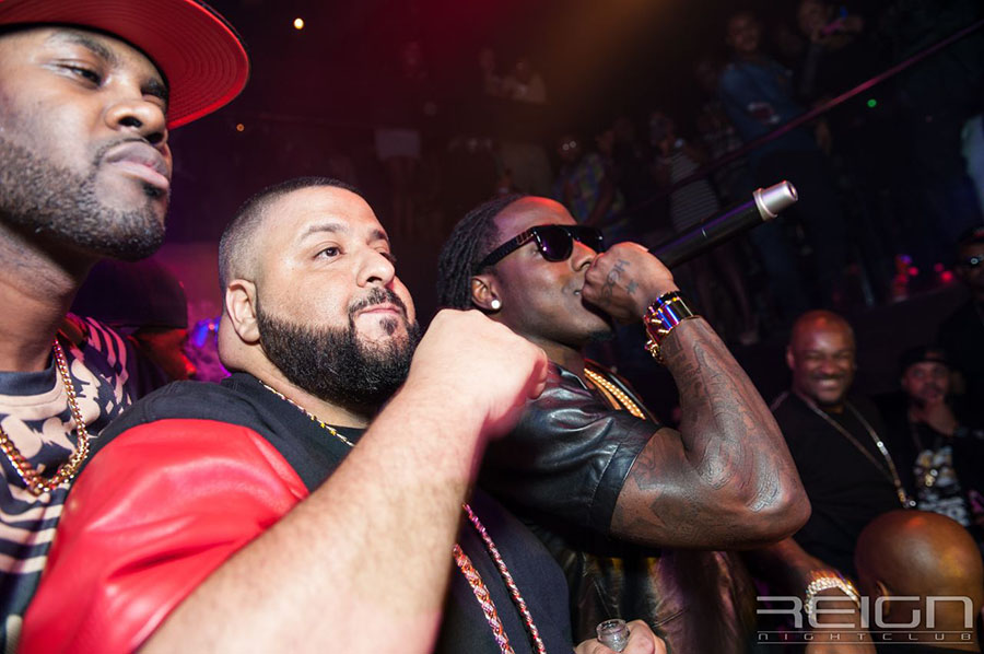 DJ Kash DJ Khaled and Ace Hood at REIGN Fridays