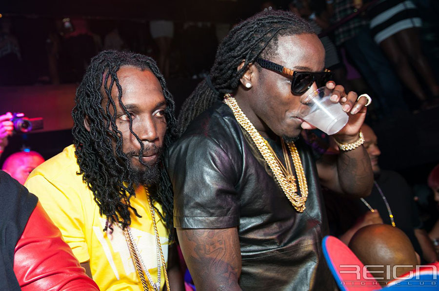 Mavado and Ace Hood at REIGN Fridays