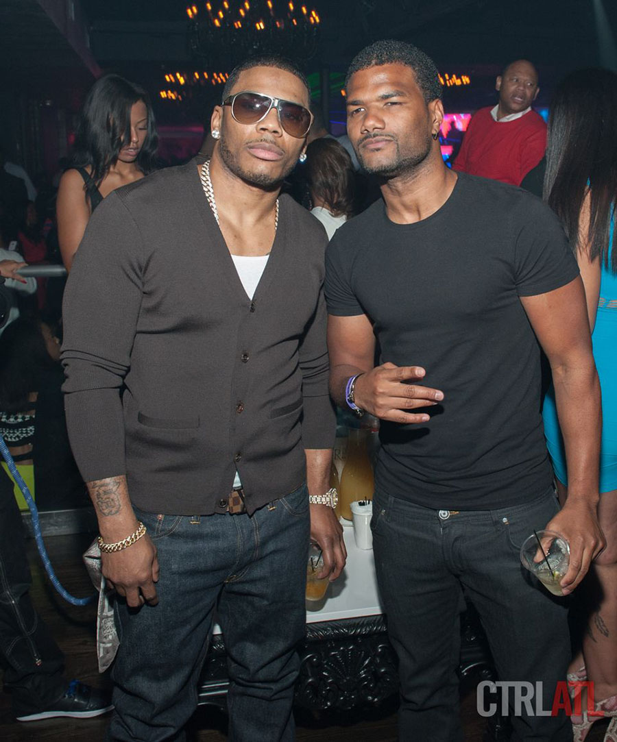 Nelly and Damien Wayans at Prive