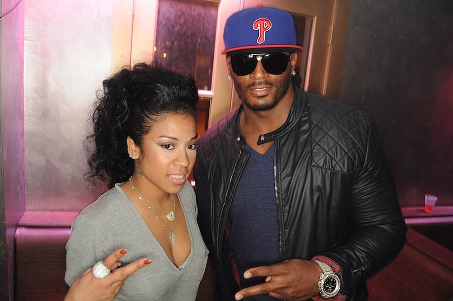 Keyshia Cole and Omar Slim White at Krave Lounge in Atlanta