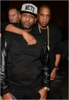 Alex Gidewon greets Jay Z. Photos by ATLPICS.net
