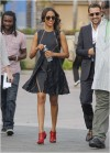 Zoe Saldana guests on Extra at Universal Citywalk