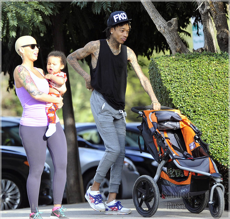 Wiz Khalifa On Family Outing