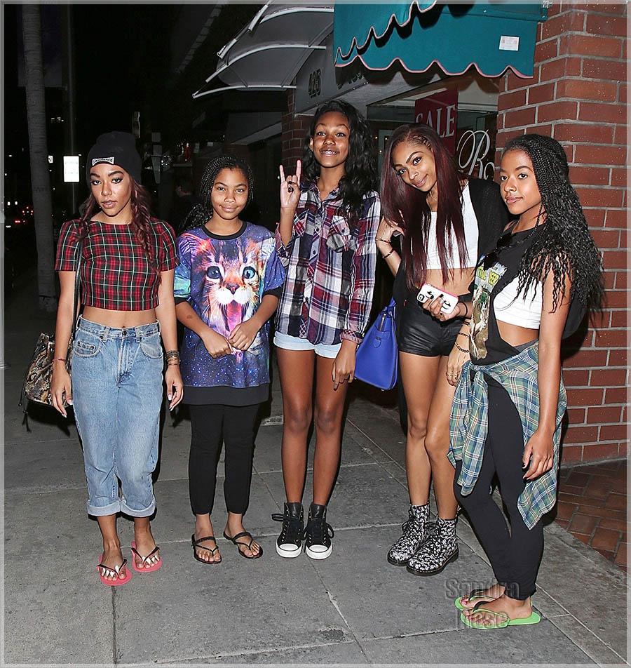 Eddie Murphys Daughters leave Beverly Hills Nail Salon