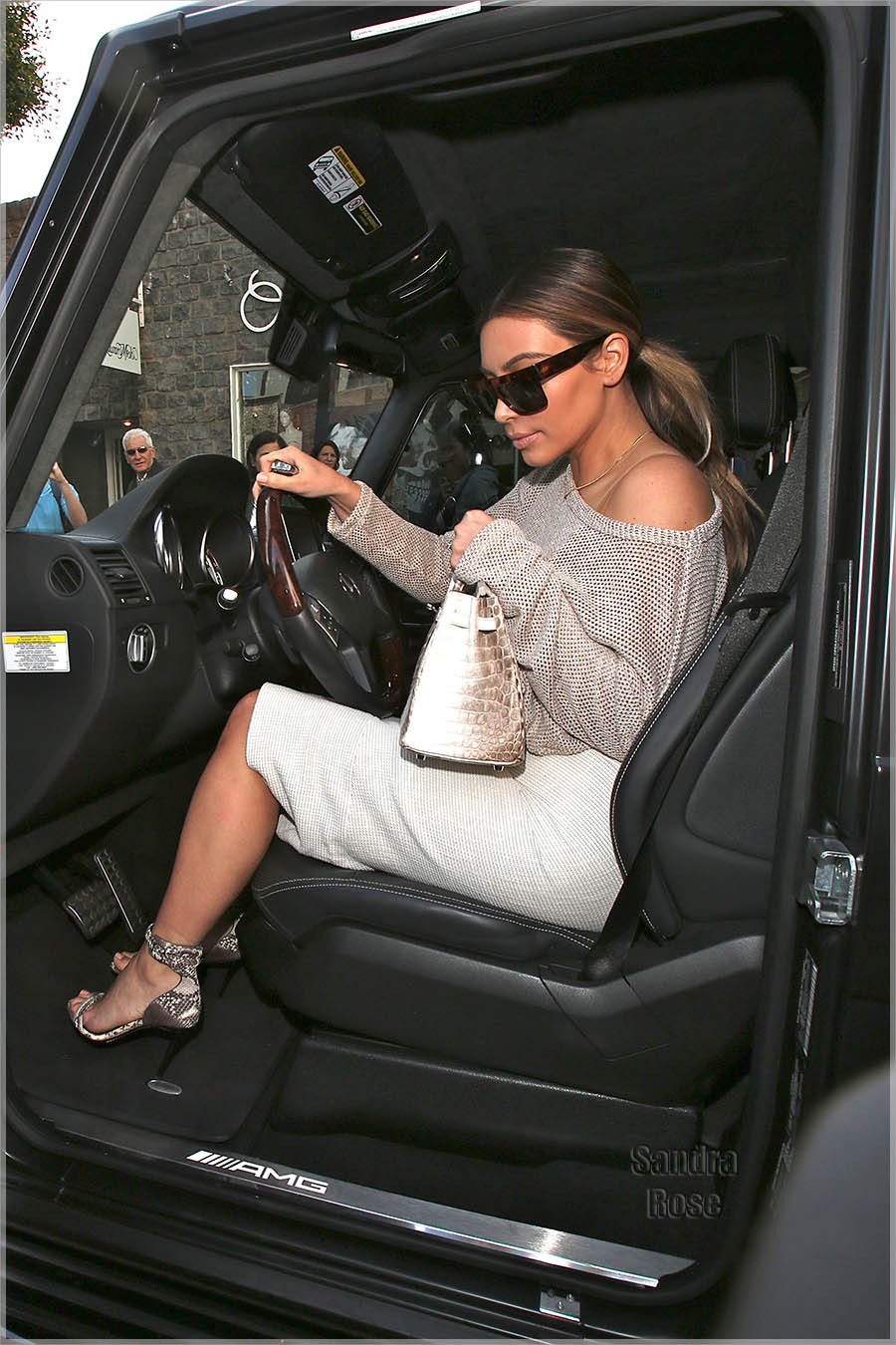 Kim Kardashian visits The Ivy for lunch