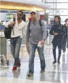 Will Smith and Jaden Smith at LAX