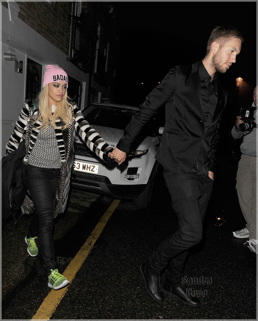 Rita Ora and Calvin Harris leave The BRIT Awards - After party
