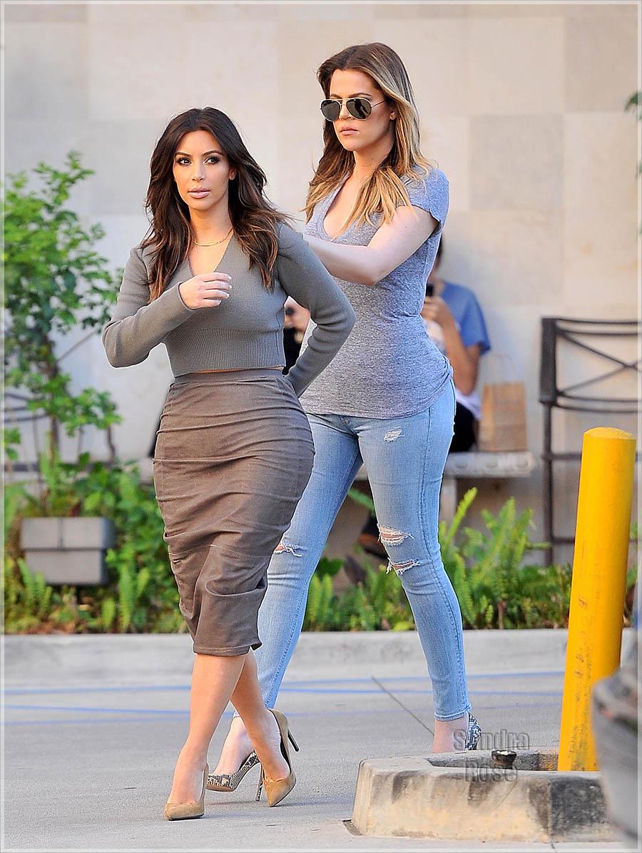 Kim Kardashian and her sisters visit a spa