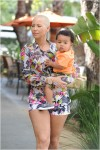 Amber Rose and her son Sebastian