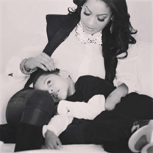 La La and her son Kiyan
