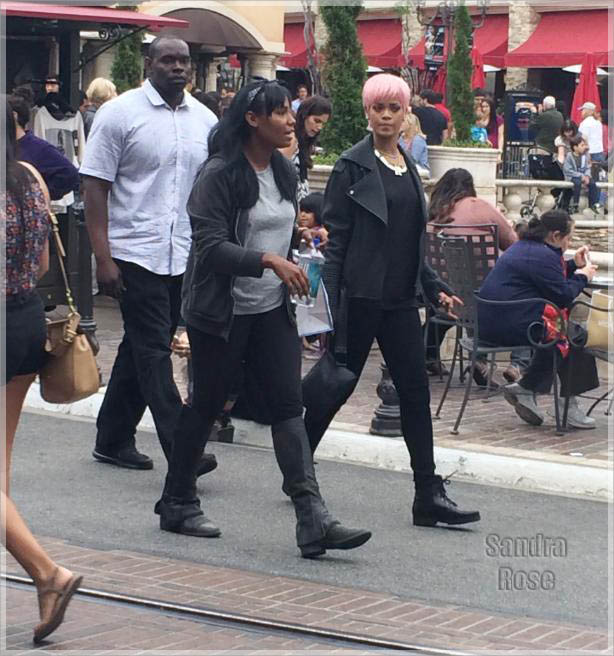Rihanna shopping at The Grove