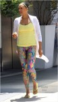 Tia Mowry visits a gym