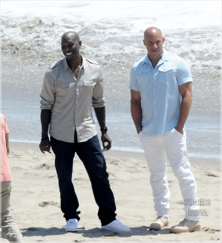 """Vin Diesel filming """"Fast and the Furious 7"""""""
