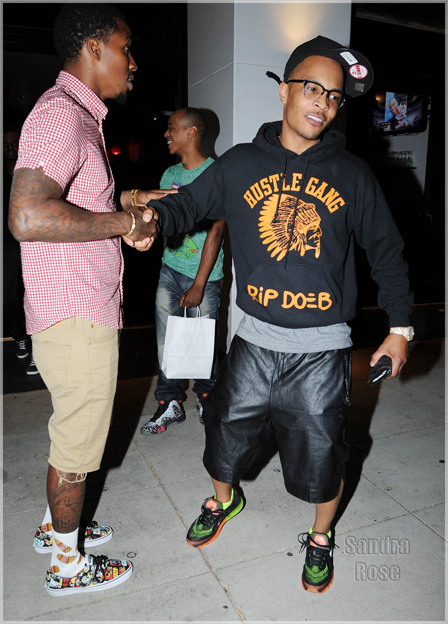 EXCLUSIVE: TI, Brandon Jennings attend Faith Evans birthday party at Philippe Chow and discuss basketball