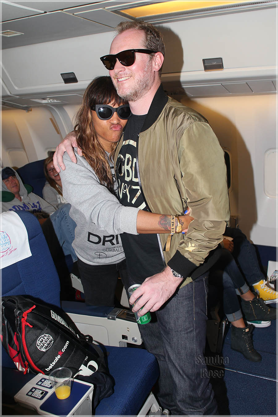 Eve,Maximillion Cooper on Gumball 3000 Flight from New York to Scotland