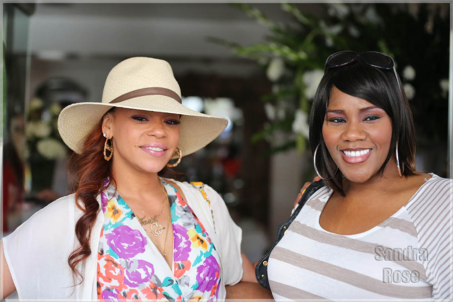 Faith Evans and Kelly Price have lunch together at Villa Blanca