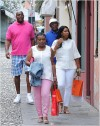 Magic Johnson and Samuel L. Jackson In Italy