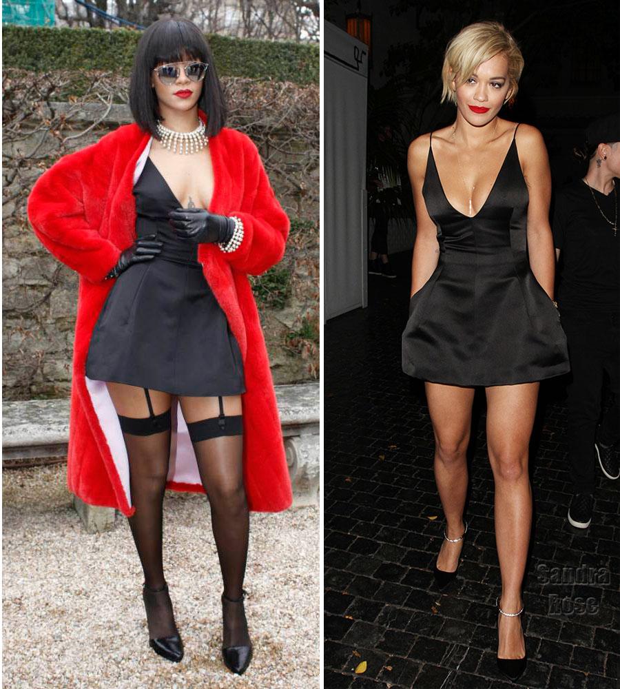 Rihanna Rita Ora in Christian Dior