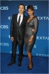 Halle Berry and Olivier Martines attend the CBS Television presents Extant Premier party