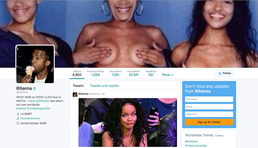 rihanna twitter background