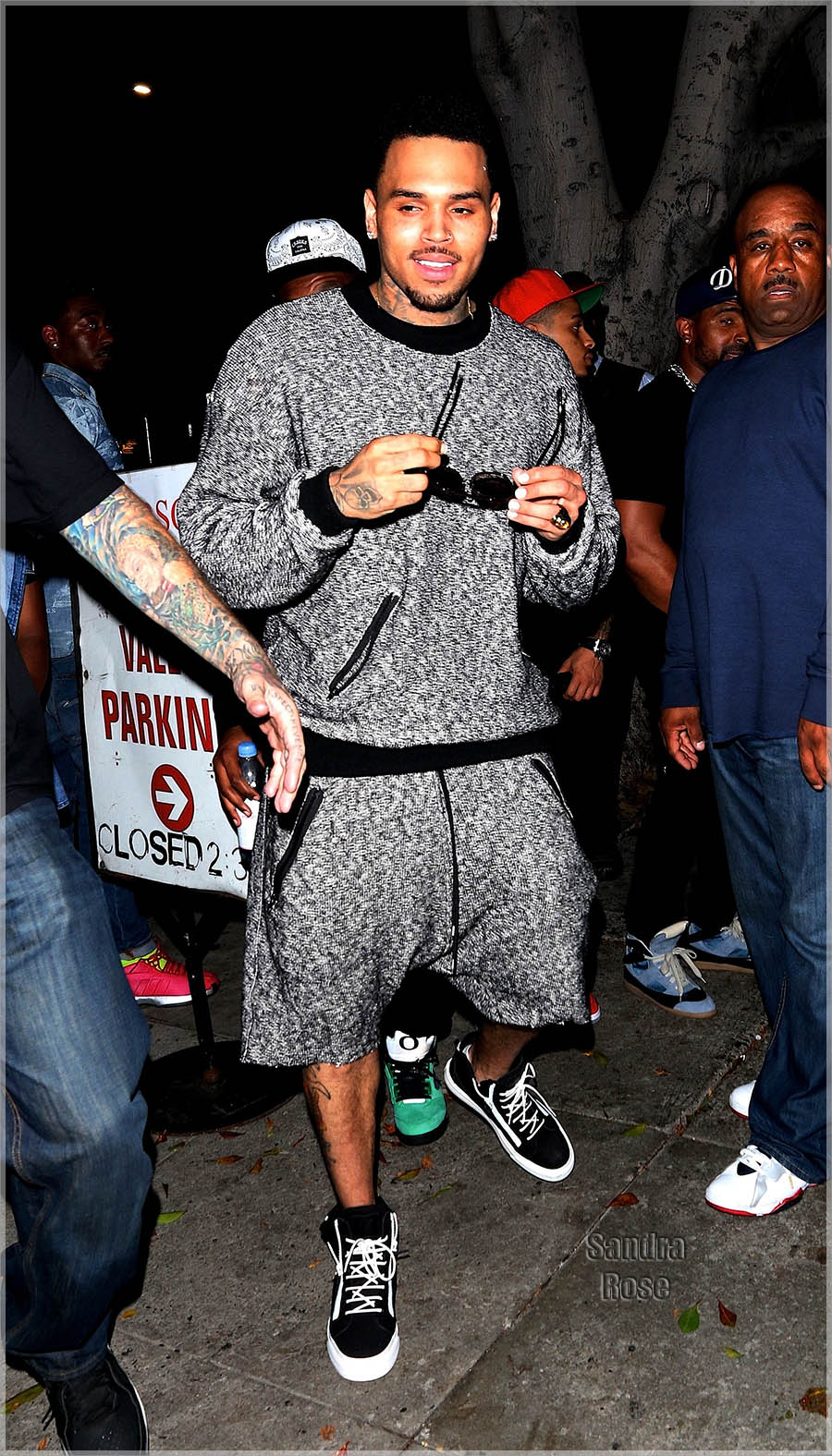 Chris Brown leaving the Emerson Theatre