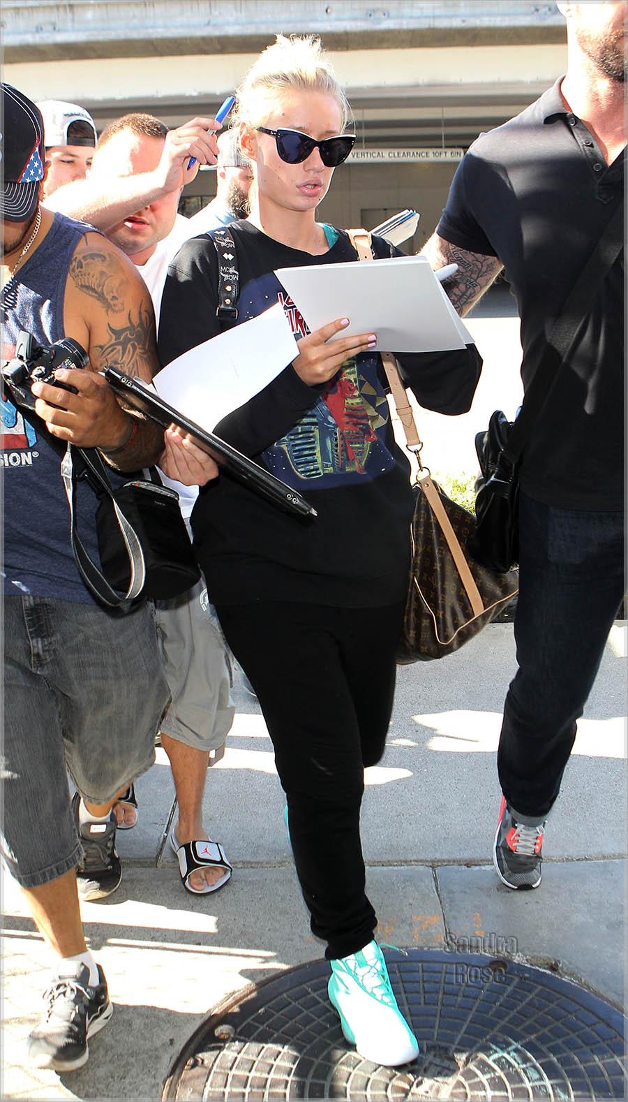 Iggy Azalea arrives at Los Angeles International (LAX) airport