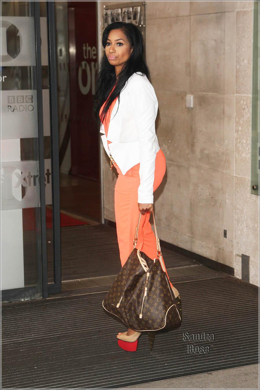 Karlie Redd arrives ar BBC studios