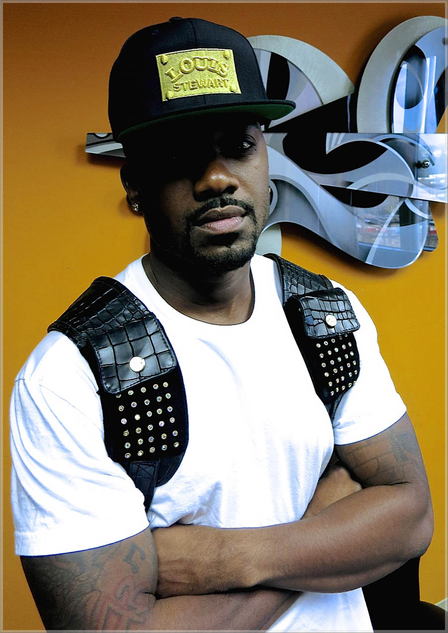 Ray J wearing Louis Stewart Stitched hat