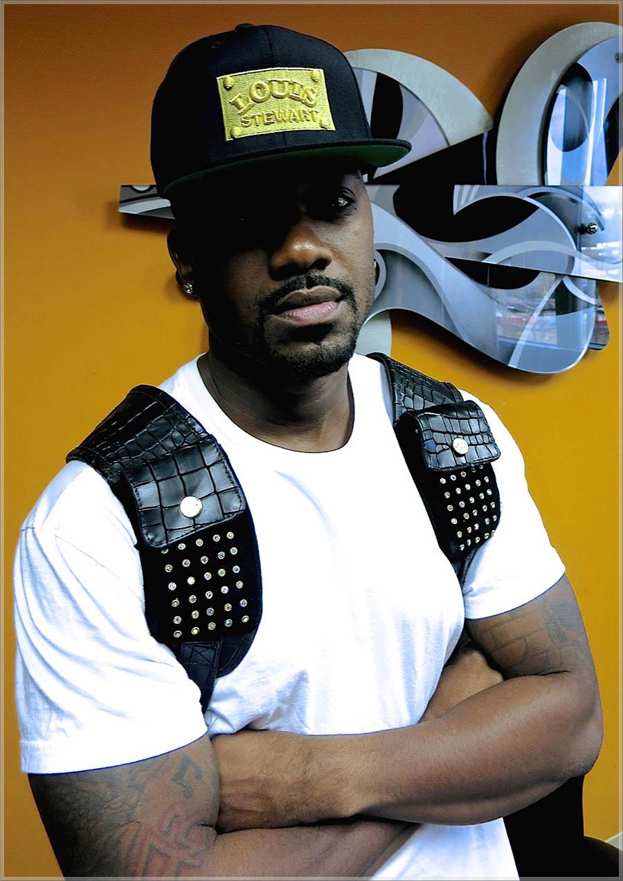 Ray J wearing Louis Stewart Stitched hat