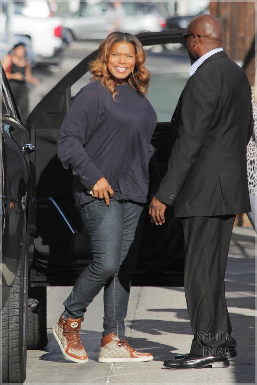 Queen Latifah arriving at Jimmy Kimmel Live!