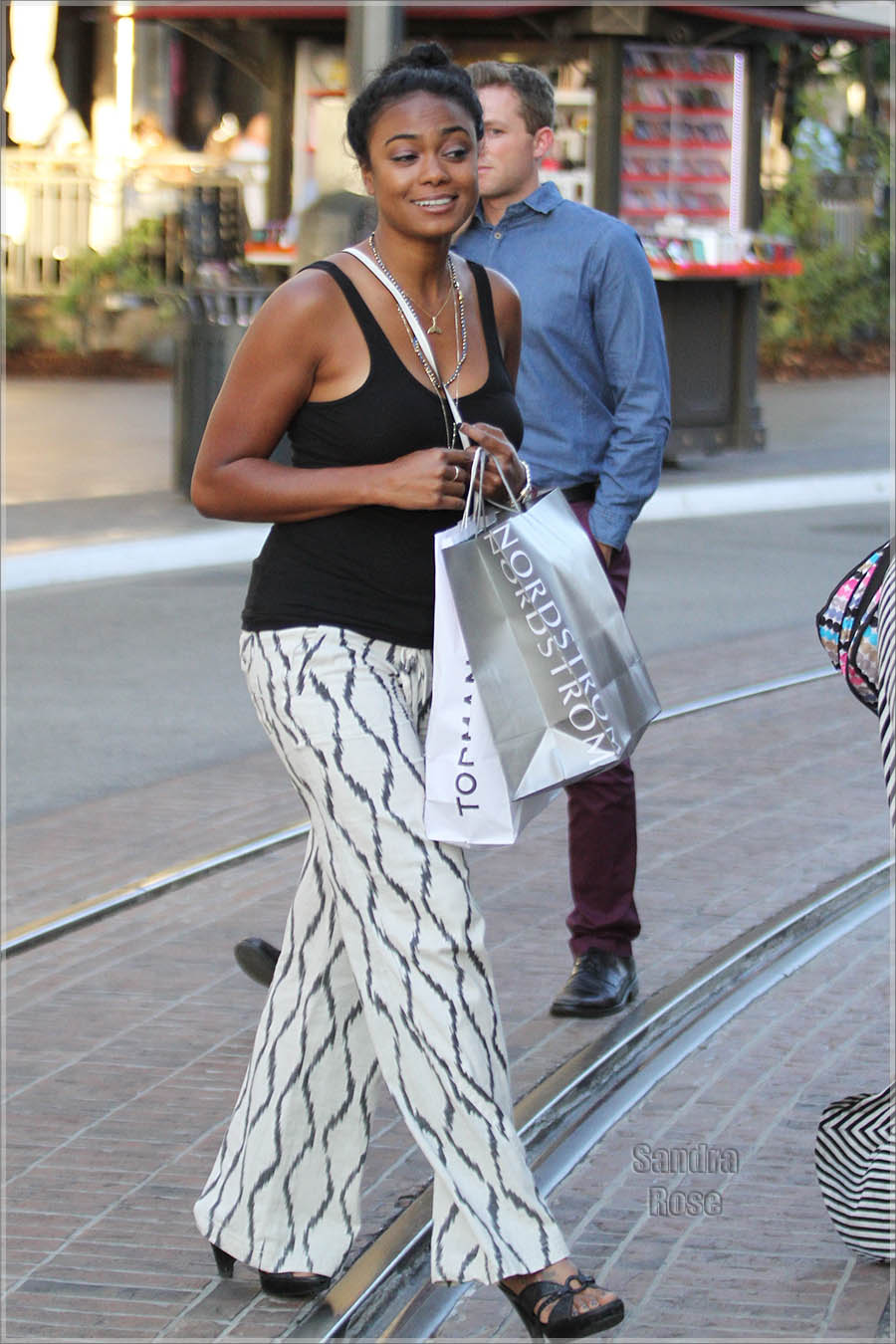 Tatyana Ali shopping with a friend at The Grove