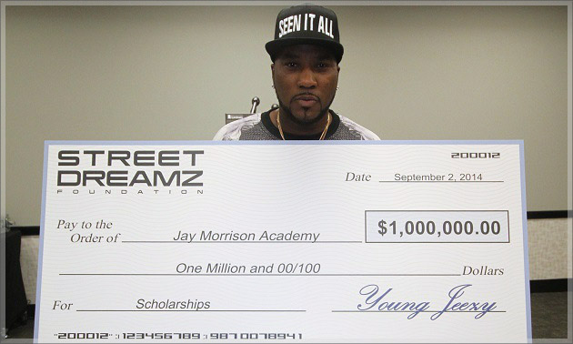 Young Jeezy Donates $1,000,000 to Jay Morrison Academy