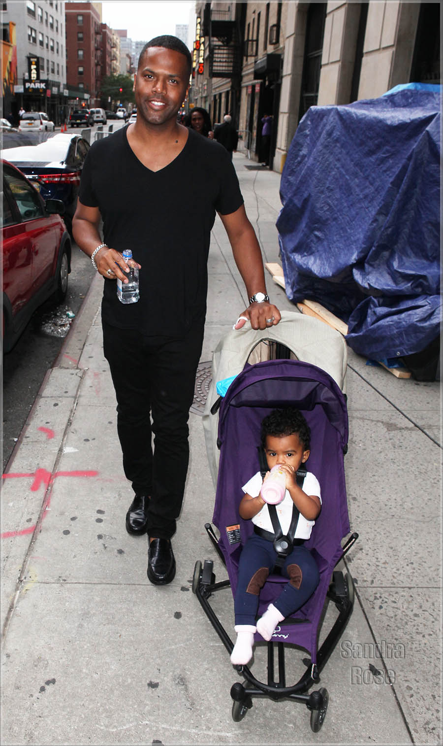 A.J. Calloway, Daughter Out For a Walk