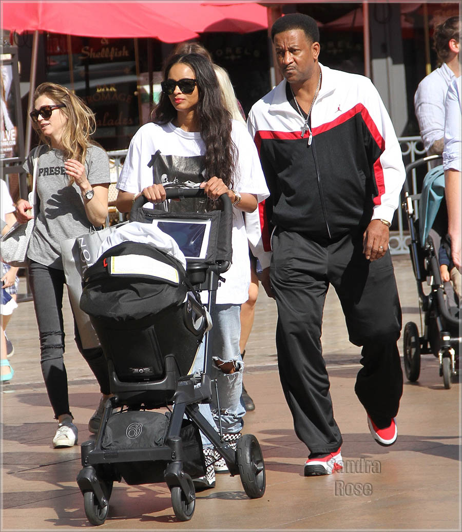 EXCLUSIVE Ciara out shopping with her family at The Grove